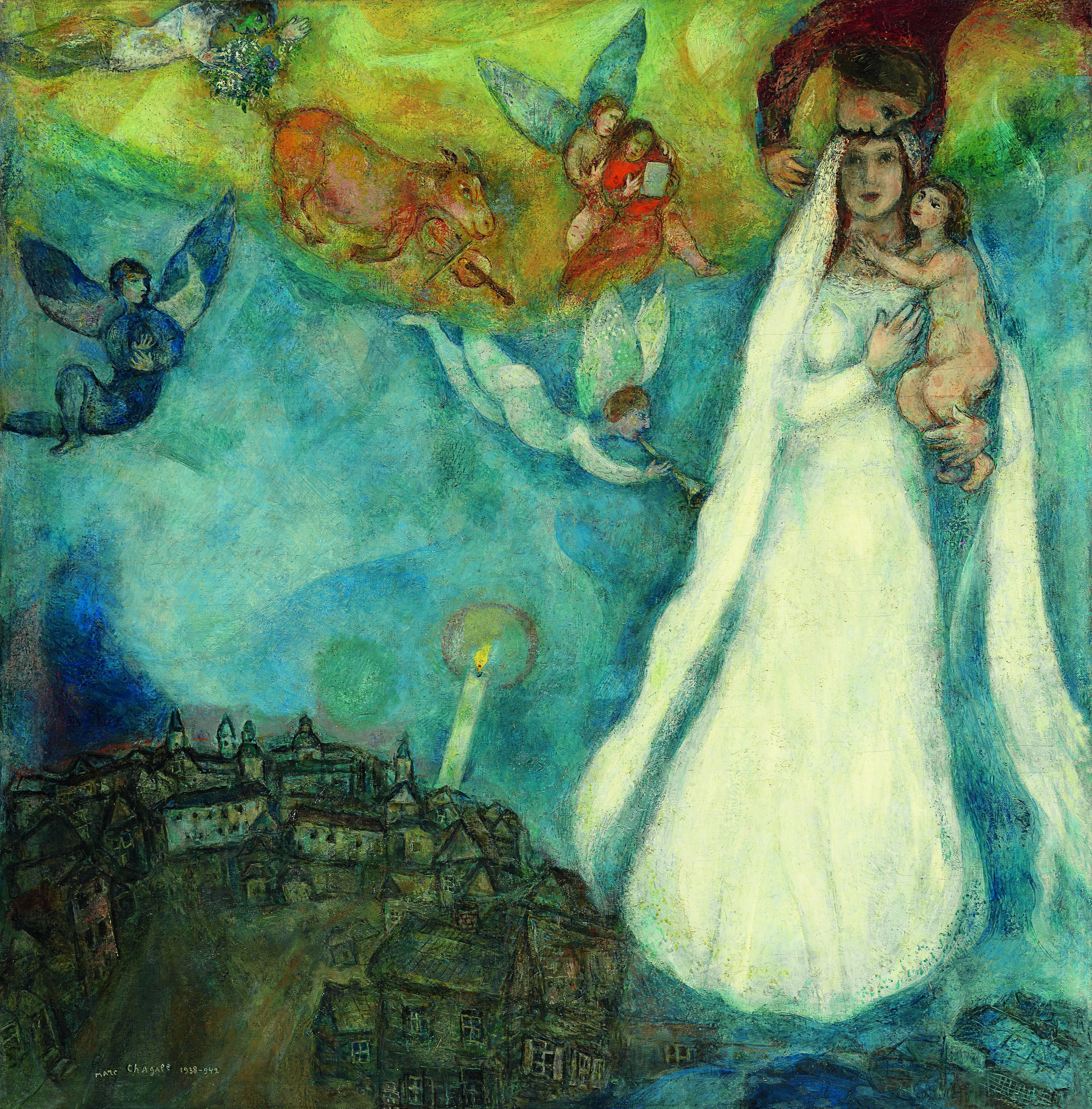 Marc Chagall La Virgen de la aldea 1938-1942 Óleo sobre lienzo. 102,5 x 98 cm Museo Thyssen-Bornemisza, Madrid © VEGAP, Barcelona, 2016 - Chagall ®